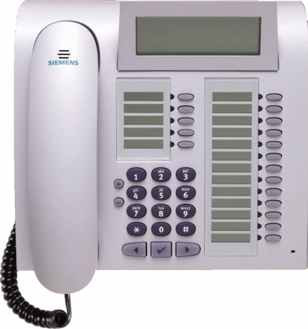 UNIFY (Siemens) optiPoint 420 advanced arctic IP-Systemtelefon mit selflabeling keys
