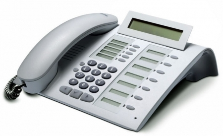 SIEMENS optiPoint 420 standard arctic IP-Phone with selflabeling keys
